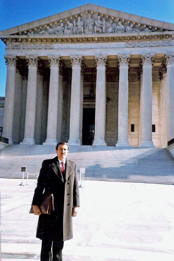 Attorney Robert G. Gilmore at the Supreme Court in 1989